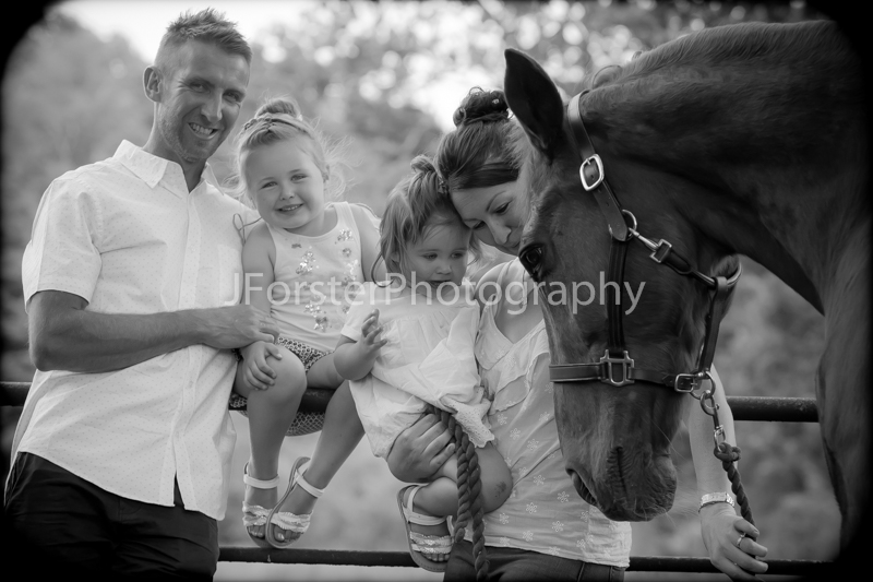 Family with horse